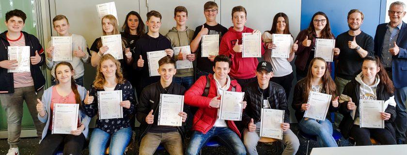 Cambridge Certificate bestanden